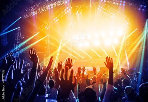 Fotobehang Dans Rock concert