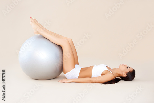 Exercises with fit ball