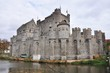Gravesteen castle in Ghent, Belgium (panorama)