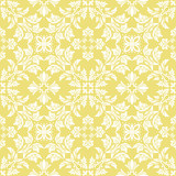 Seamless wallpaper pattern with white ornaments