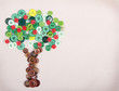 apple tree made of buttons