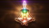 Meditating enlightenment - chakra symbols