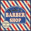 Barber shop vintage poster