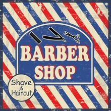Barbier affiche vintage