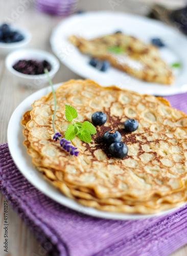 pfannkuchen mit heidelbeeren