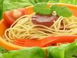 Spaghetti, closeup