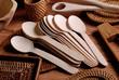utensili da cucina in legno - cucchiai
