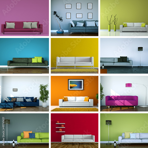 canvas print picture Sofasammlung - 12 Sofadesigns