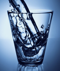 water splash in a glass