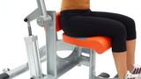 Training on isodynamic exerciser close-up