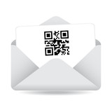 White Envelope with a QR Code