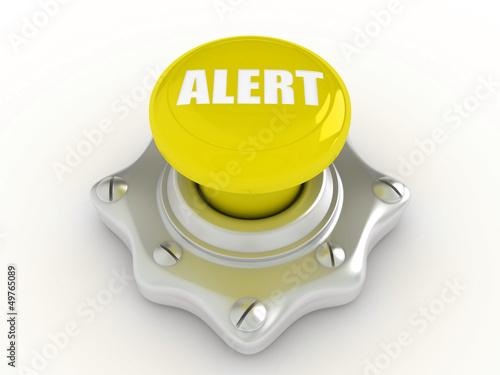 Yellow alert button
