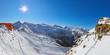 Suspension bridge at mountains ski resort Bad Gastein - Austria