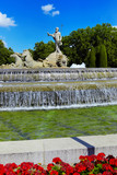 The fountain of Neptune in Madrid, Spain