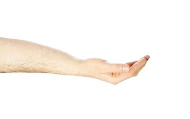 offene leere Männerhand