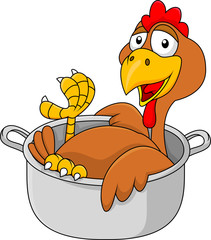 Chicken in the saucepan