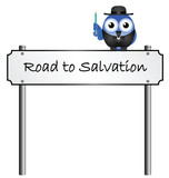 Road to Salvation street name sign poster