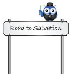 Road to Salvation street name sign