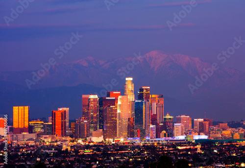 Foto op Canvas Los Angeles Los Angeles at night