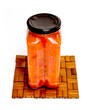 glass jar with tomato paste