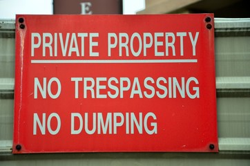 Trespassing private property notice