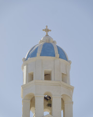 Church steeple in a mediterranean island