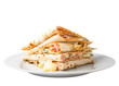 Piadina sandwich isolated with clipping path