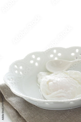 poached egg on elegant bowl for gourmet breakfast iamg