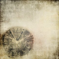 Vintage  background with clock