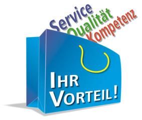 Vorteil, Service, Qualitaet, Kompetenz, Tragetasche; shoppen;  A