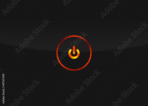 Power button on carbon fiber background