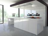 Fototapety helle küche mit dekoration