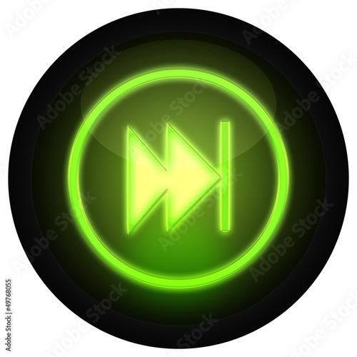 Button Vorwärts Grün