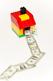 Lego house and money poster