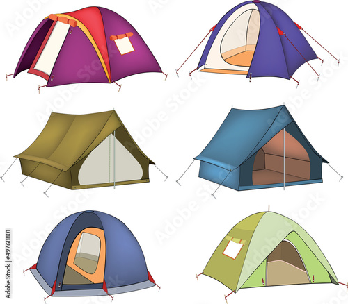 Set of tourist tents