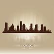 Houston Texas skyline city silhouette