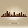 Denver Colorado skyline city silhouette