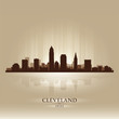 Cleveland Ohio skyline city silhouette