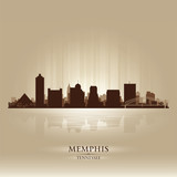 Memphis Tennessee skyline city silhouette poster