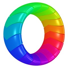 farbenfroher Design - Torus, Diversität im Team