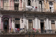 Facade of the building, Havana, Cuba