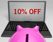 Ten Percent Off On Notebook Shows Discounts