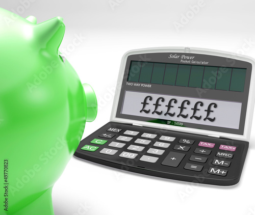 Pounds Calculator Shows UK Interest On Wealth