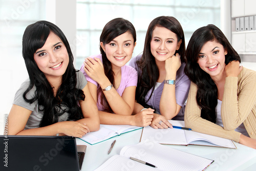 group of student studying together