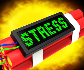 Stress On Dynamite Shows Pressure Of Work