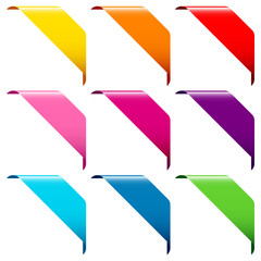 Set Of 9 Banner Color