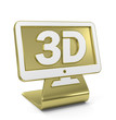 """3D Screen"" Golden Icon"
