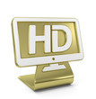 """HD Screen"" Golden Icon"