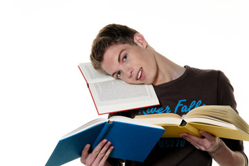 Junger Student beim lernen