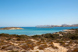 Sandy coast of  Antiparos in front of Paros - Greece